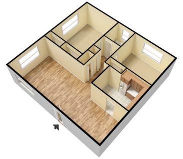 1 Bedroom 1 Bath - Unfurnished. 692 sq. ft.