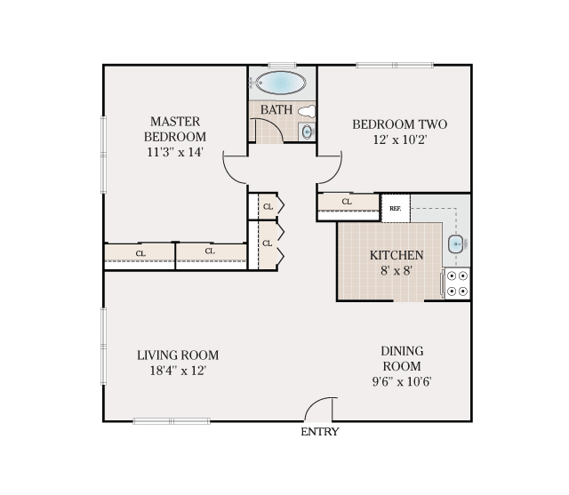 floor plans - valley manor apartments for rent in edison, nj